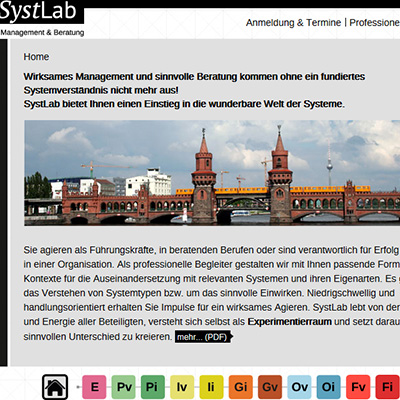 Laboratorium Webauftritt